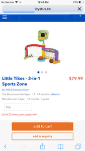 Little Tykes Toddler Sports centre- Great for Xmas