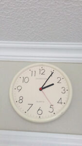 Wall Clock and dressing mirror