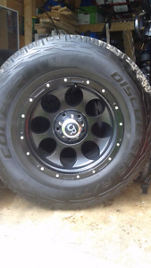 """5 - 17"""" RTX rims and 285 70 17 Cooper AT3 tires"""