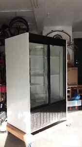 Large Habco Double Door Display Fridge Windsor Region Ontario image 2