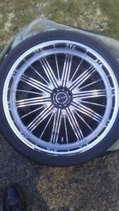 "rims, 22"" chrome"