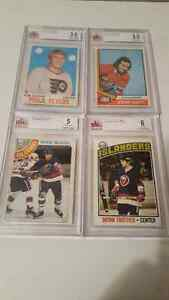 4 GRADED BVG  ROOKIE HOCKEY CARDS Sarnia Sarnia Area image 1