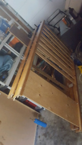 Single bunk beds with mattresses
