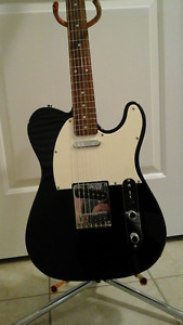 Squire Fender Telecaster Guitar And Amp and Stand