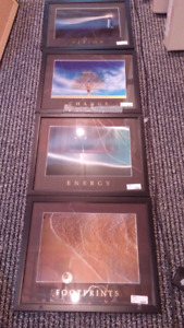 Set of four inspirational pictures