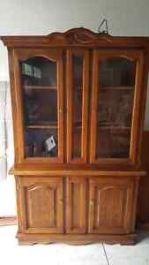 Oak China cabinet and hutch  London Ontario image 1