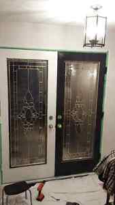 Leaded Glass door Insert Full Size 22 by 64 inches