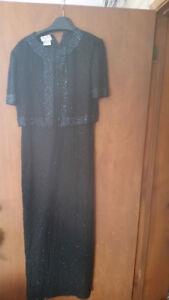 Black dress size L , wear 1 time few hours $50Like new .***PLE