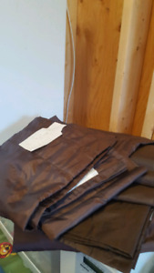 Curtains Lined Brown Set $12 (54x84)