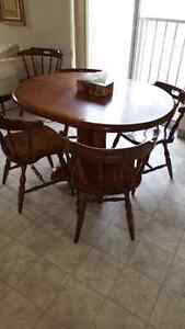 Sturdy real wood kitchen table and chairs