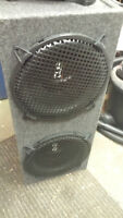 """2 12"""" Audiobahn Dub Subs in a box with grills"""