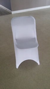 White Stretch Folding Chair Covers