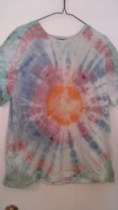 adult tye-dye (hippie) t-shirts.  size XL.  $12 or 2 for $20