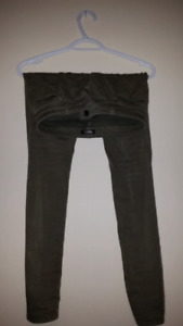 TNA Size 0 Olive Green Pants