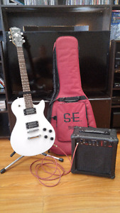 Guitar and Amp with accessories - Beginners complete set