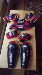 Chest protector/elbow pads/ shin guards (Child-Med)