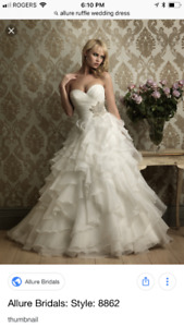 Wedding dress size 0 for sale, worn once $500.00