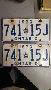 1970 Muscle car plates