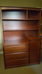 Storkcraft Dresser and Hutch