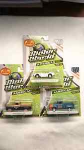 GREENLIGHT MOTOR WORLD SET OF 3 CARS 1965 SHELBY,1956 FORD F-100