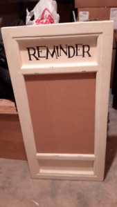 NEW ONE-OF-A-KIND WOOD 'REMINDER' BOARD