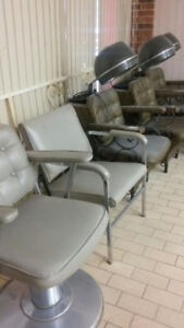 Assorted Barber and Salon Chairs from the 70's -