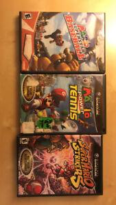 Mario Tennis, Mario Baseball, Mario Striker – GAMECUBE