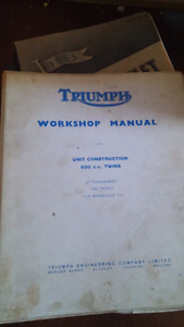Triumph 650 unit original workshop manual