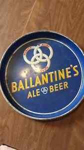 Vintage Ballantines Beer tray