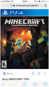 Minecraft ps4 brand new package sealled