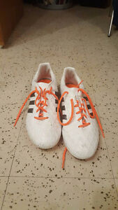 Women's Adidas Soccer Cleats US Size 9.5 and Nike Shin Pads