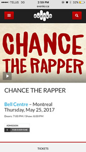 Chance The Rapper ticket - FLOOR SECTION