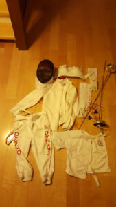 Lightly used epee fencing gear!!