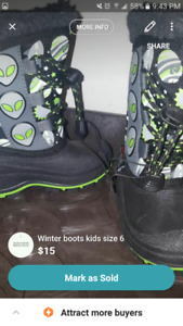 Toddler size 6 winter boots (new)