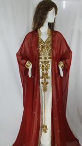 BURGUNDY WEDDING DRESS,LONG DRESS, GOWN, KAFTAN,ISLAMIC  %50 OFF