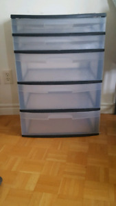 Plastic 5-drawer Dresser