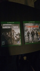 Tom Clancy's the Division and rainbow six siege
