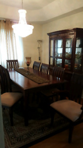 Dining set 8 chairs hutch & buffet Must go today