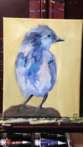 A Blue Bird - Oil 10x8