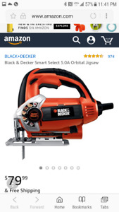 BLACK & DECKER 6amp ORBITAL ACCU-LEVEL JIG SAW