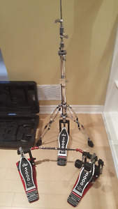 DW 5000 Double Bass Drum Pedal and Hi Hat Stand - MINT