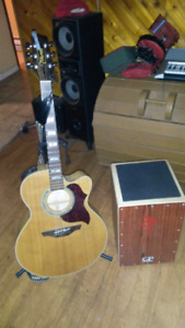 Cahone, High end Takamine guitar and one of a kind Samick