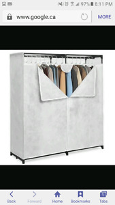 Stand up covered closet-60 inches wide