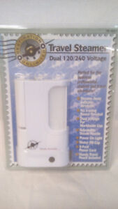 NEW IN PACKAGE TRAVEL STEAMER, HOME STEAMER AND B&D CURLING IRON