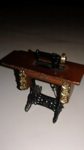 Vintage dollhouse sewing machine