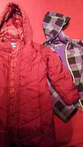 Winter(red 7) and Fall(purple 8) girl coats 20$/both Gatineau Ottawa / Gatineau Area image 1