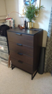 NEW IKEA DRESSER (4 DRAWER) - Dark Brown Finish - Needs a Home!