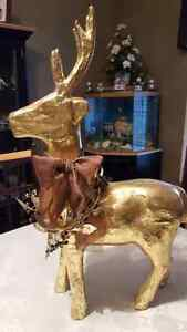Gold Deer set Decor Kitchener / Waterloo Kitchener Area image 3