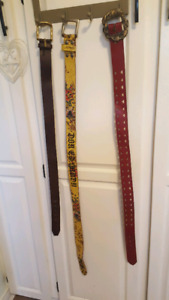 REDUCED Leather belts