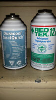 Air conditioning quickseal and refrigerant both cans $25.00